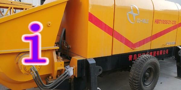 混凝土泵的气洗需要配备空气压缩机,水洗需要打开锥管进行操作
