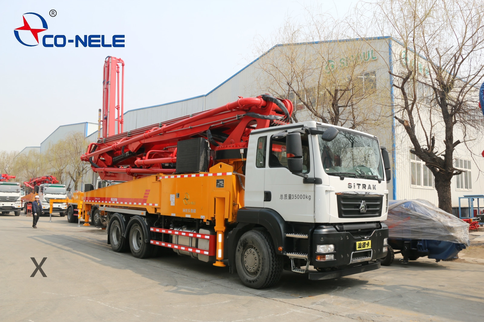 重汽44米混凝土泵车