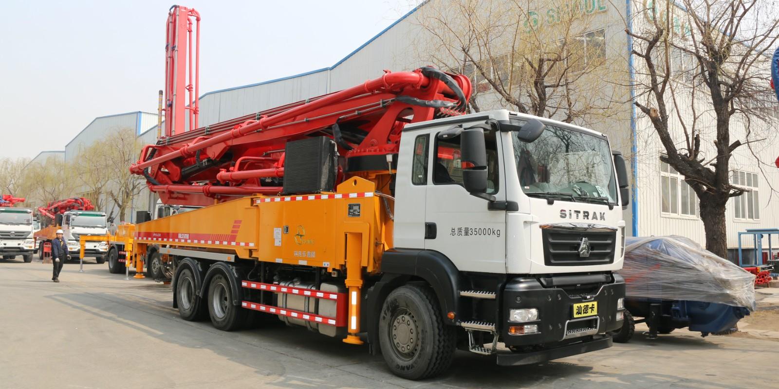 科尼乐 重汽44米(汕德卡)混凝土泵车